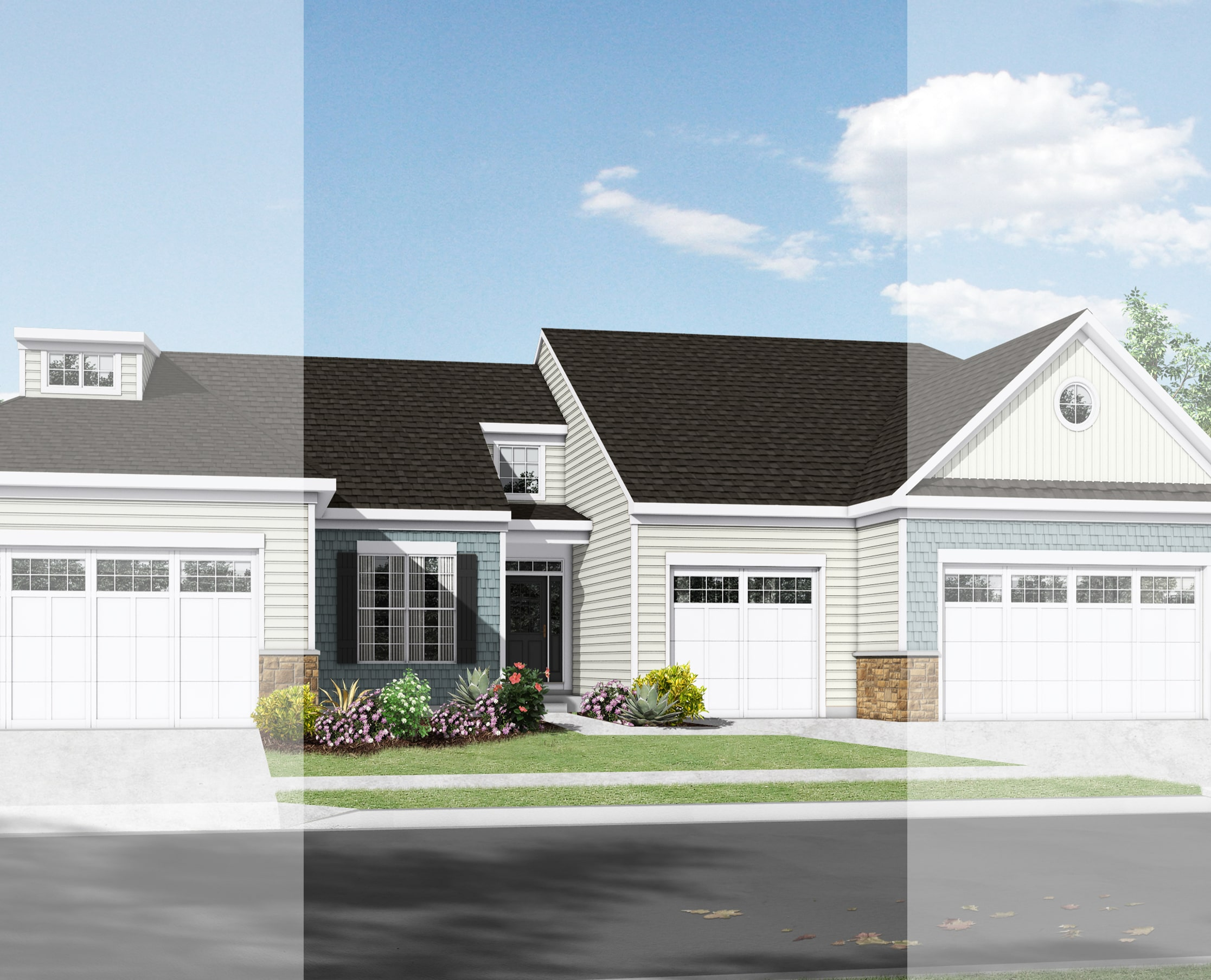 New home exterior from McKee Builders.