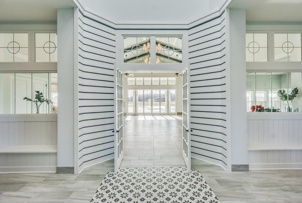 Community center foyer.