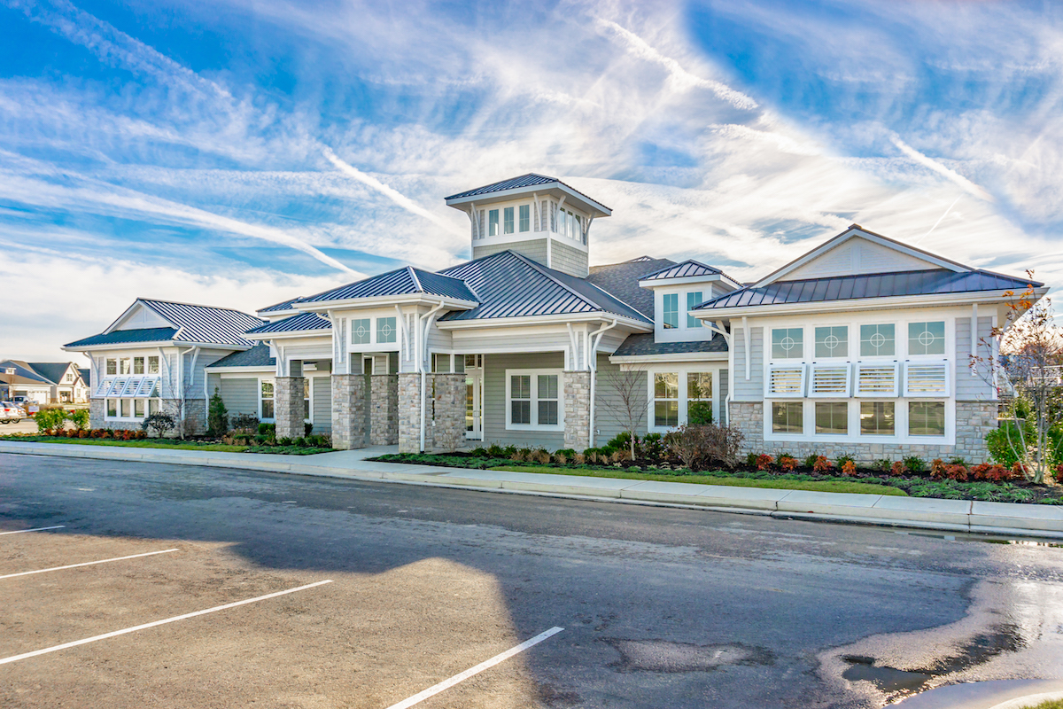 Image of the Bay Bridge Cove Clubhouse at the 55+ Community in MD