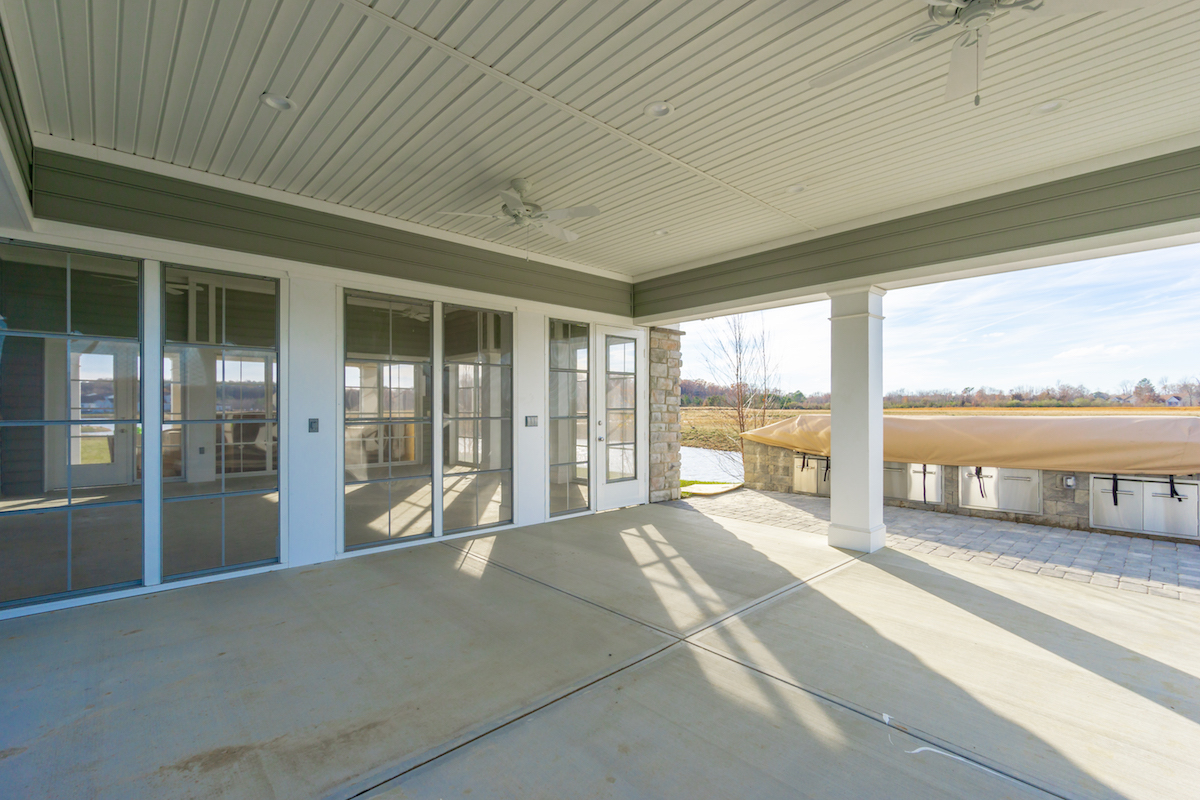 Entrance area at the Bay Bridge Cove Community Center.