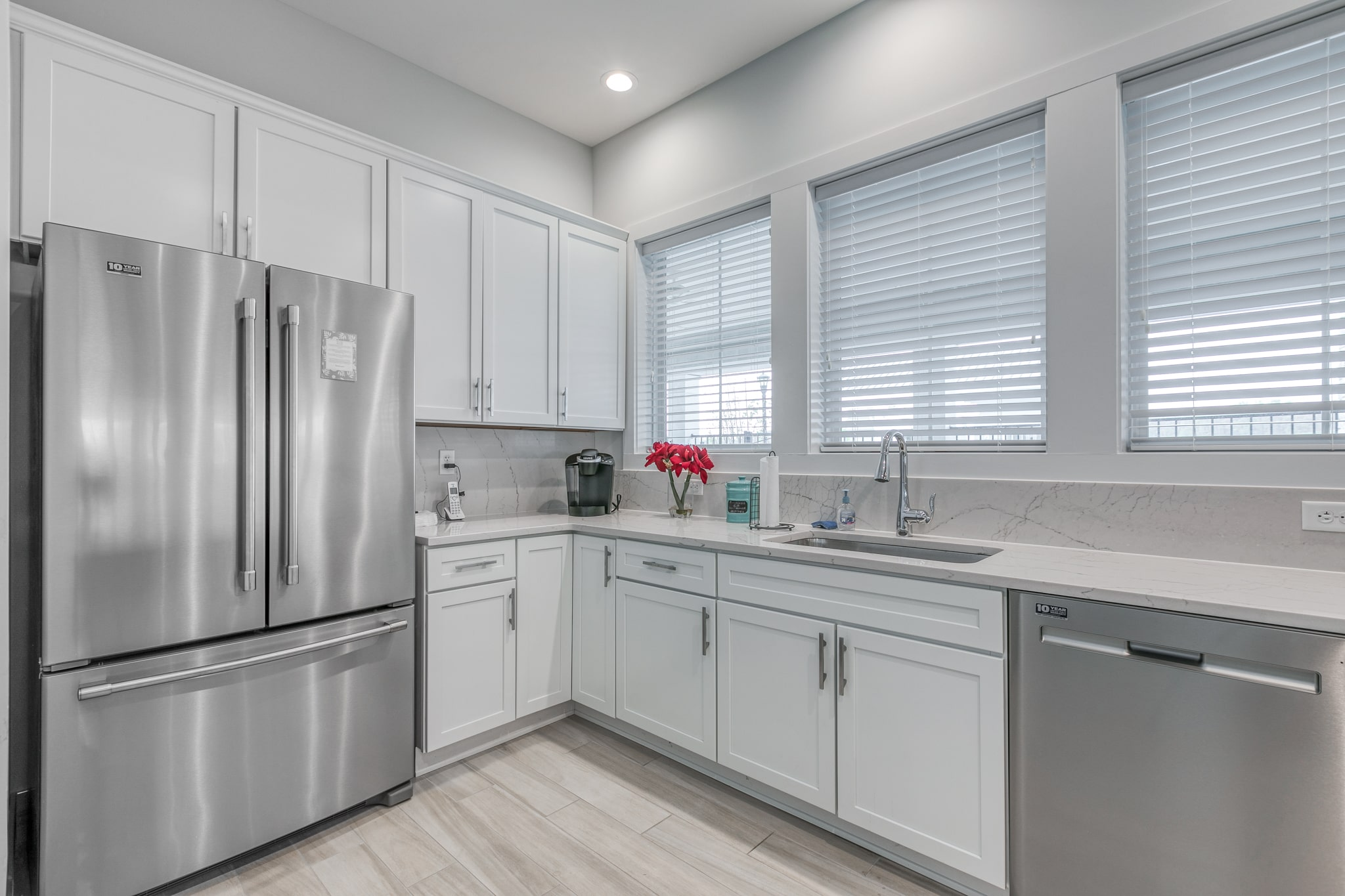 Image of the kitchen area inside the Bay Bride Cove Community