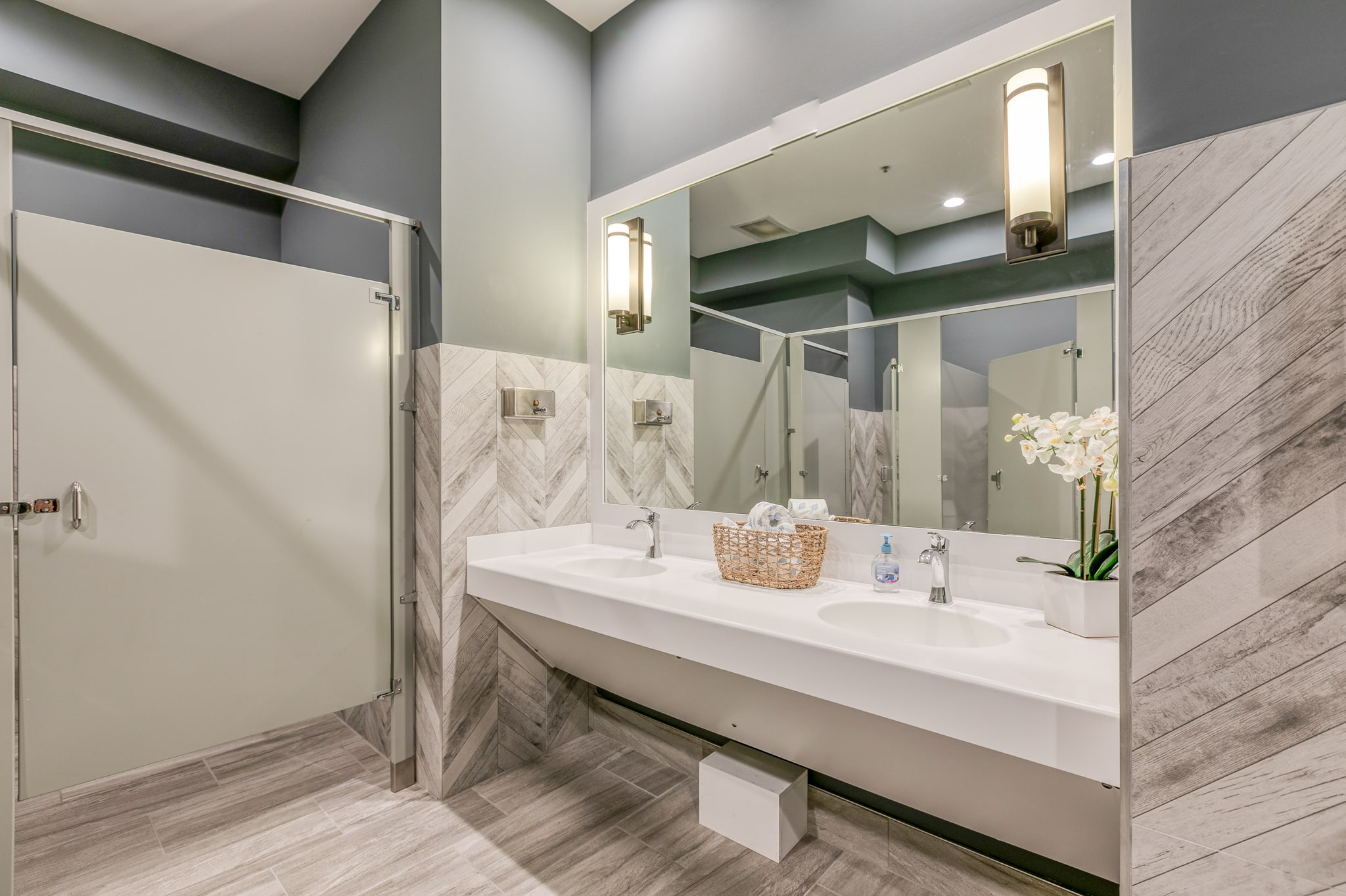 Image of a bathroom inside the Bay Bride Cove Community Clubhouse