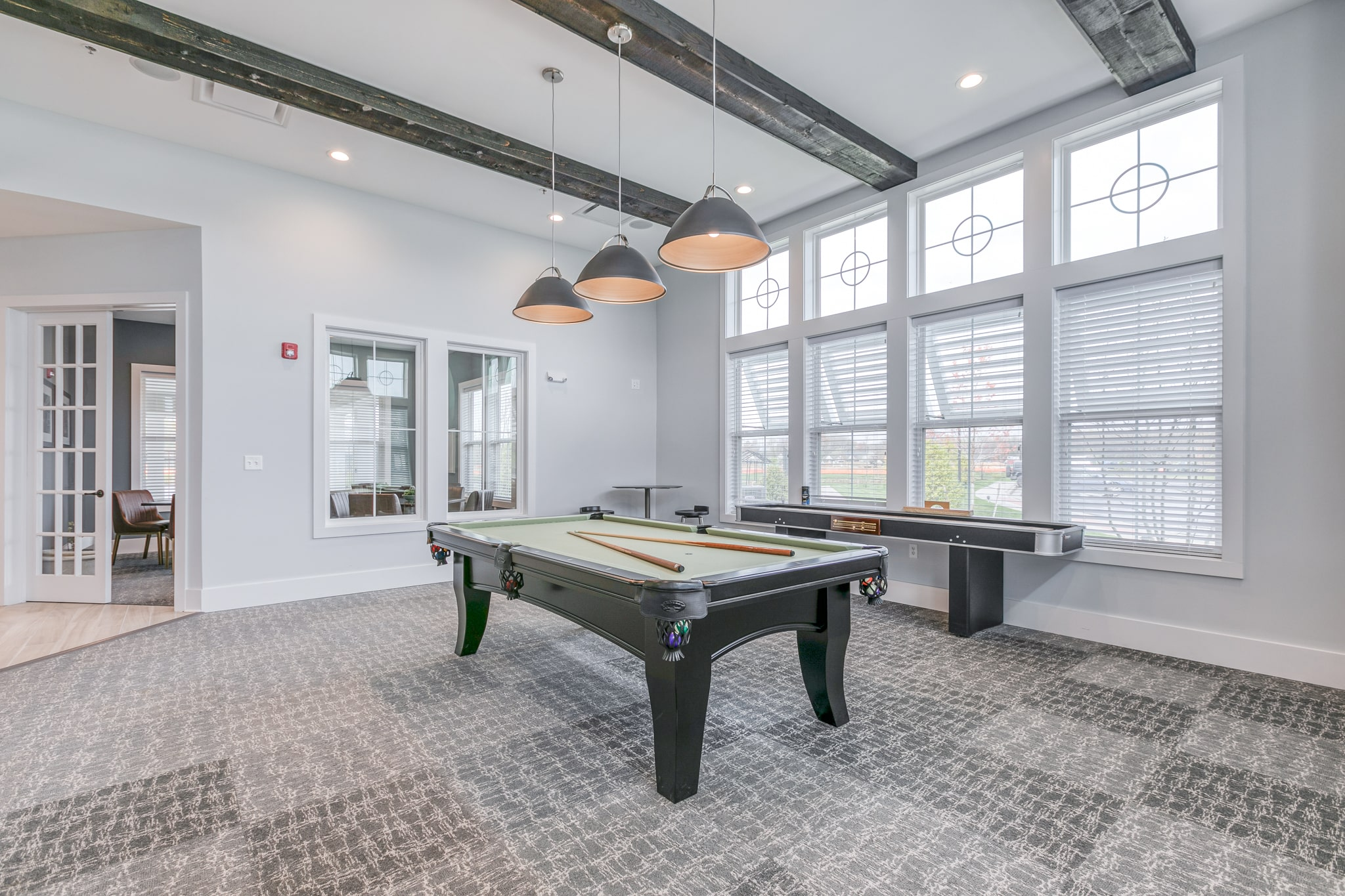 Image of a pool table inside the Bay Bride Cove Community Clubhouse